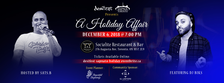 desiFEST & SAPNA Toronto: A Holiday Affair, 2018