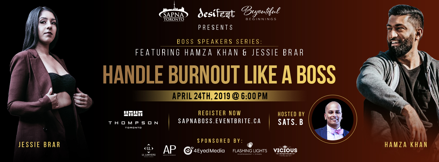'Boss' Speaker Series: Hamza Khan and Jessie Brar